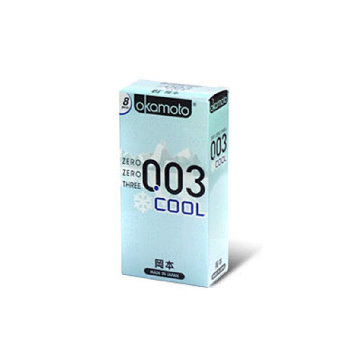 岡本 0.03 冰涼 8 片裝 乳膠安全套