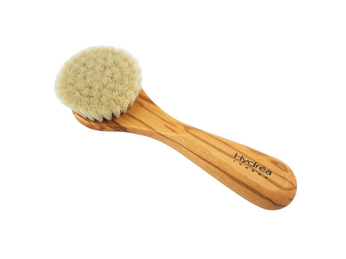 橄欖木純羊毛嬰兒掃