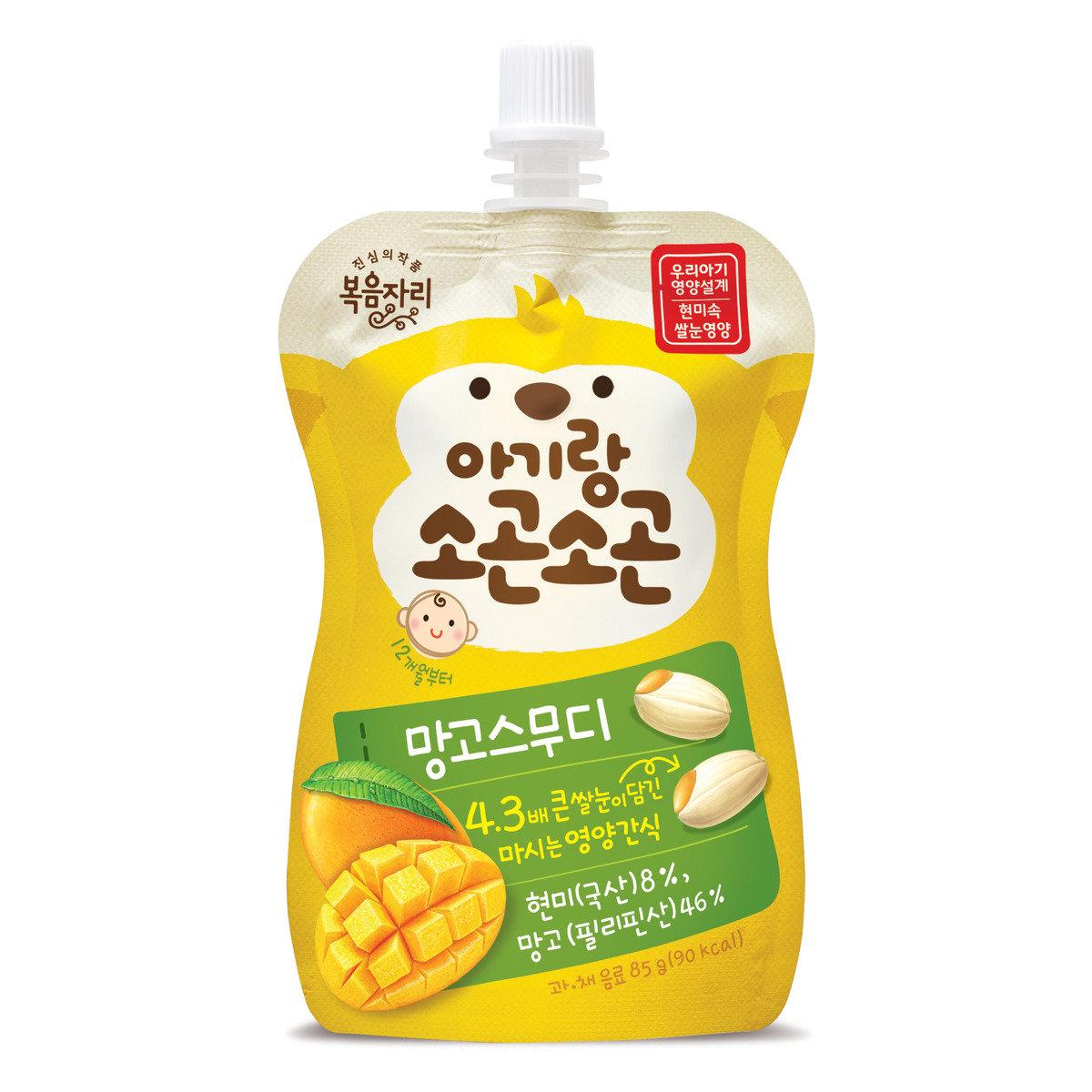 韓國有機胚芽糙米芒果唧唧果茸 (85克)