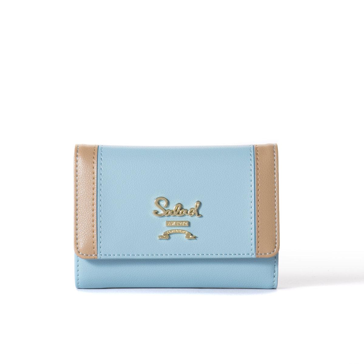 a3281026154d4 Short Leather Wallet-Silver Blue