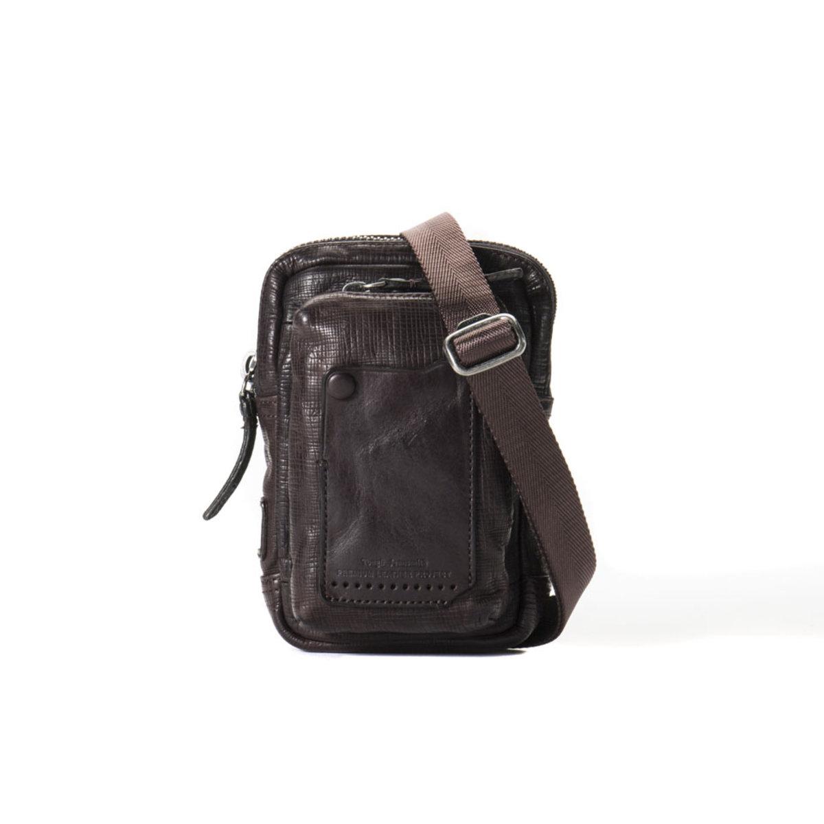 TOUGH Jeansmith   Leather Bag-Dark Brown   HKTVmall Online Shopping e86ca3889b
