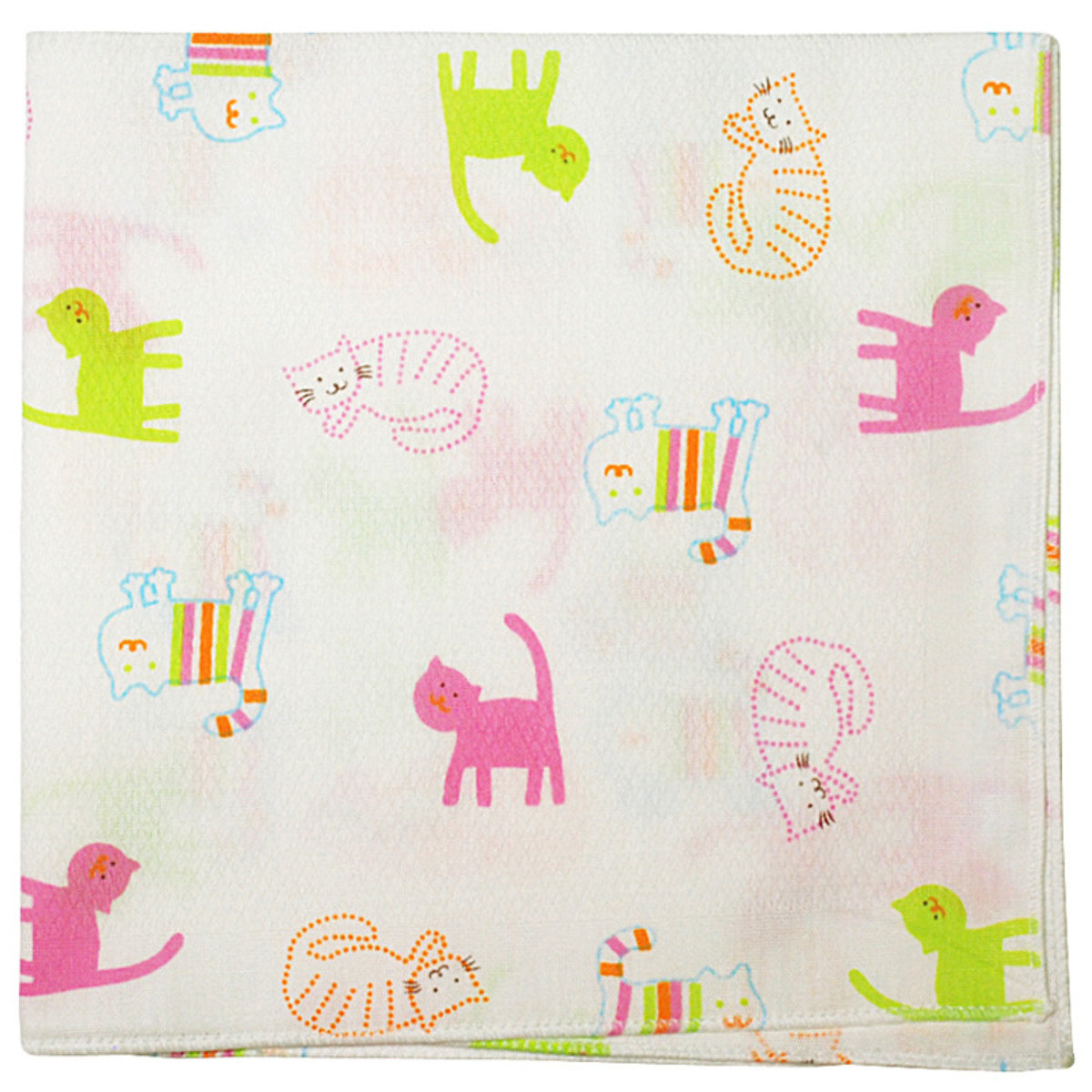 全棉嬰兒紗巾 (貓仔) - 5片裝