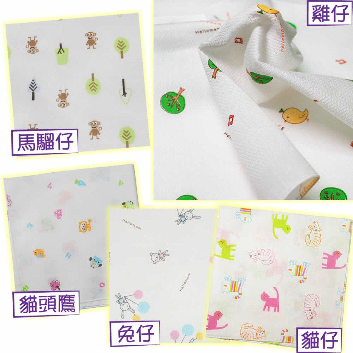 [買4送1] 全棉嬰兒紗巾 (5片裝) x 5包