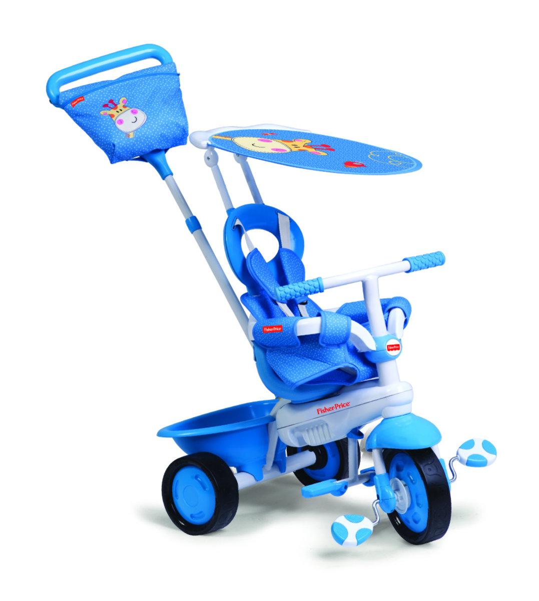 費雪牌 Elite嬰幼3合1三輪車 - 藍色
