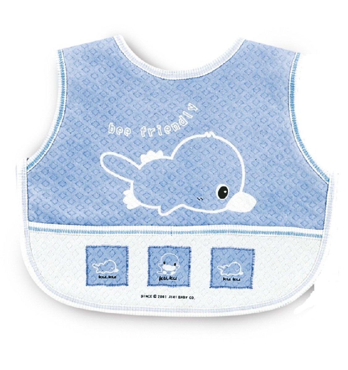 嬰兒粘扣大圍兜 (藍色)