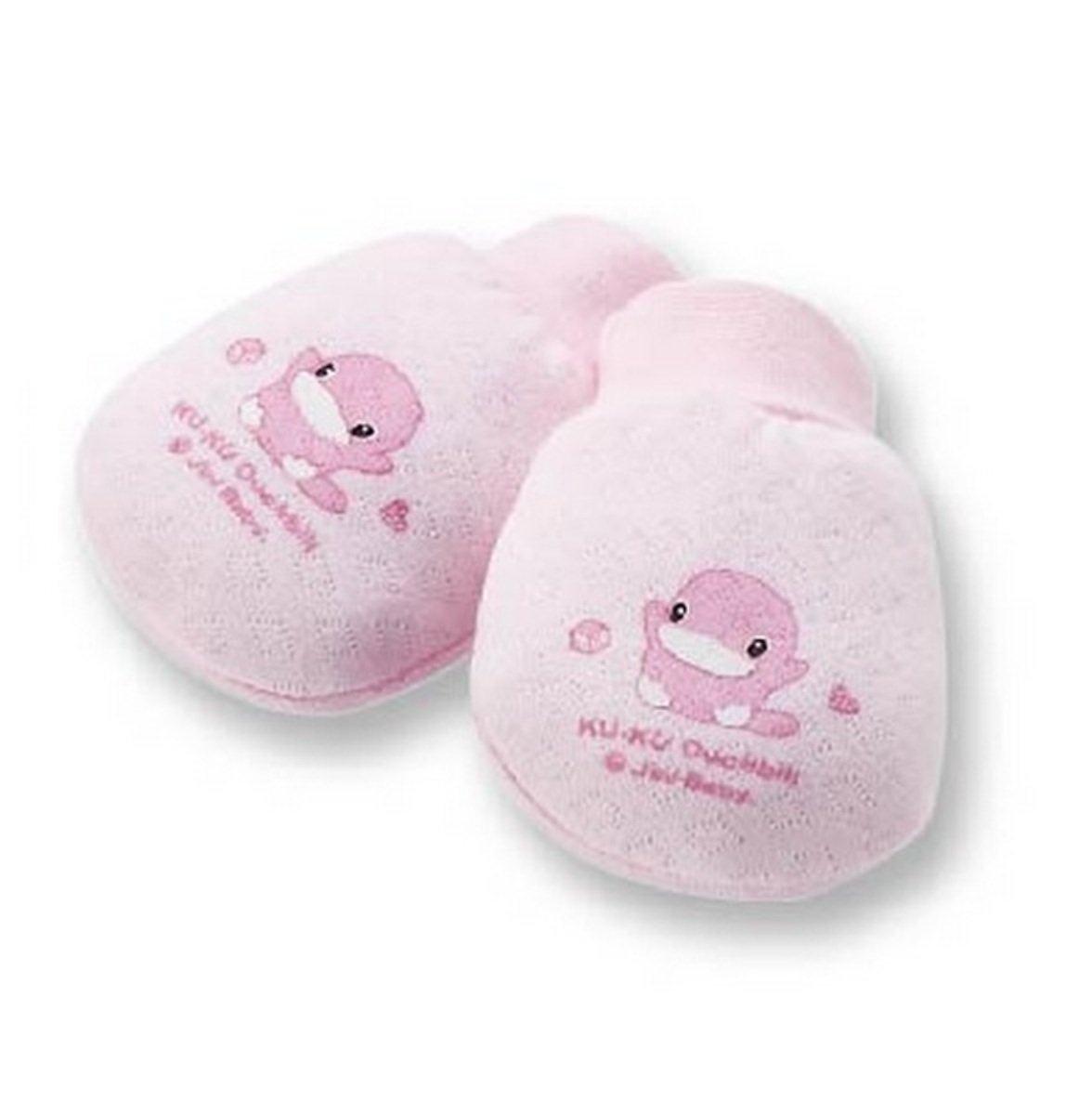 保暖束口護手套-1雙入 (粉紅色)