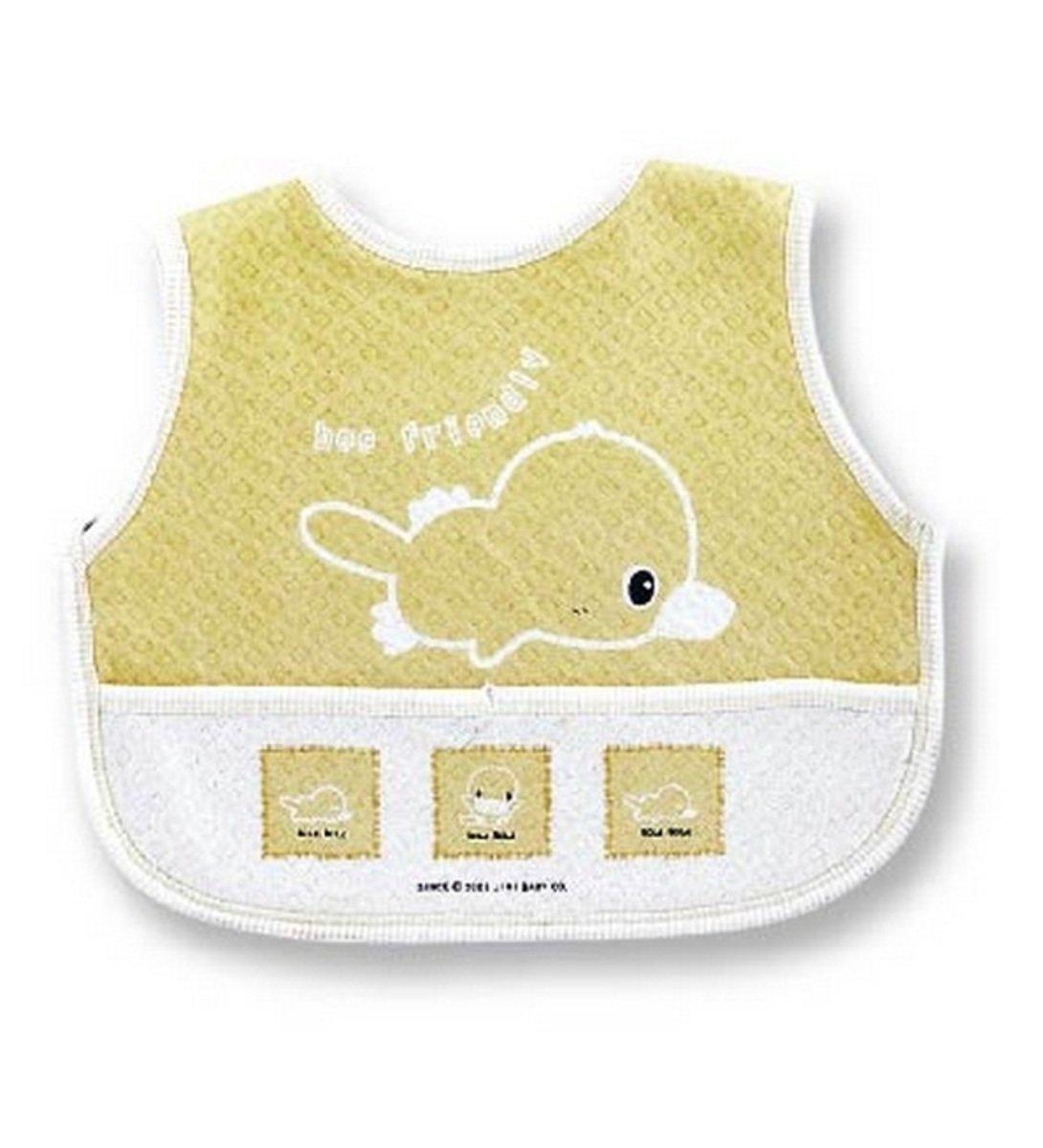 嬰兒粘扣大圍兜 (黃色)