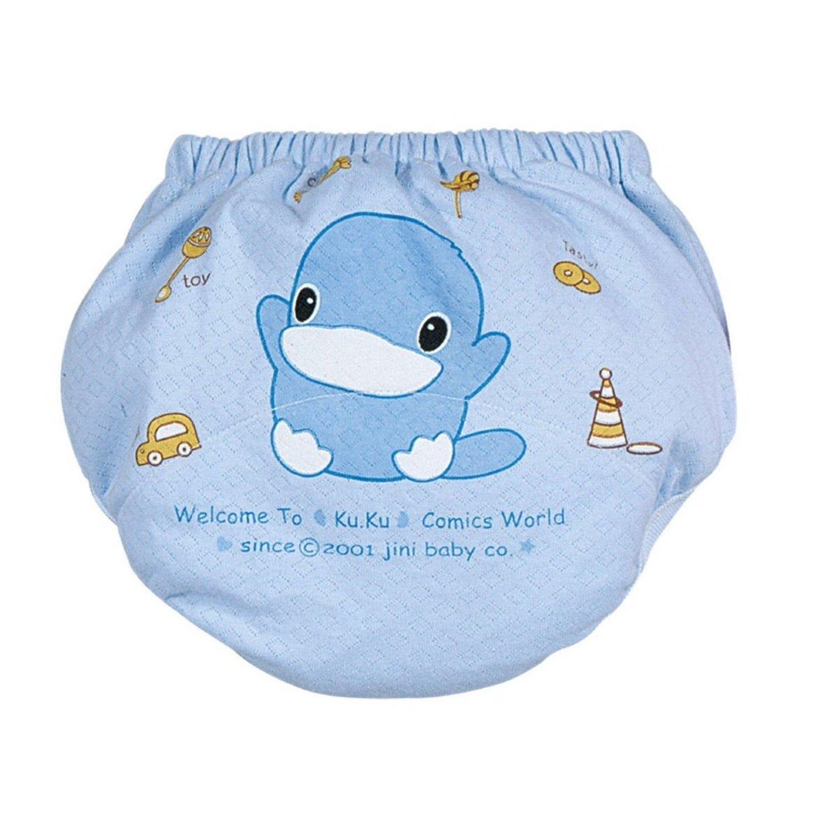 寶寶薄練習褲 (藍色) - 大碼