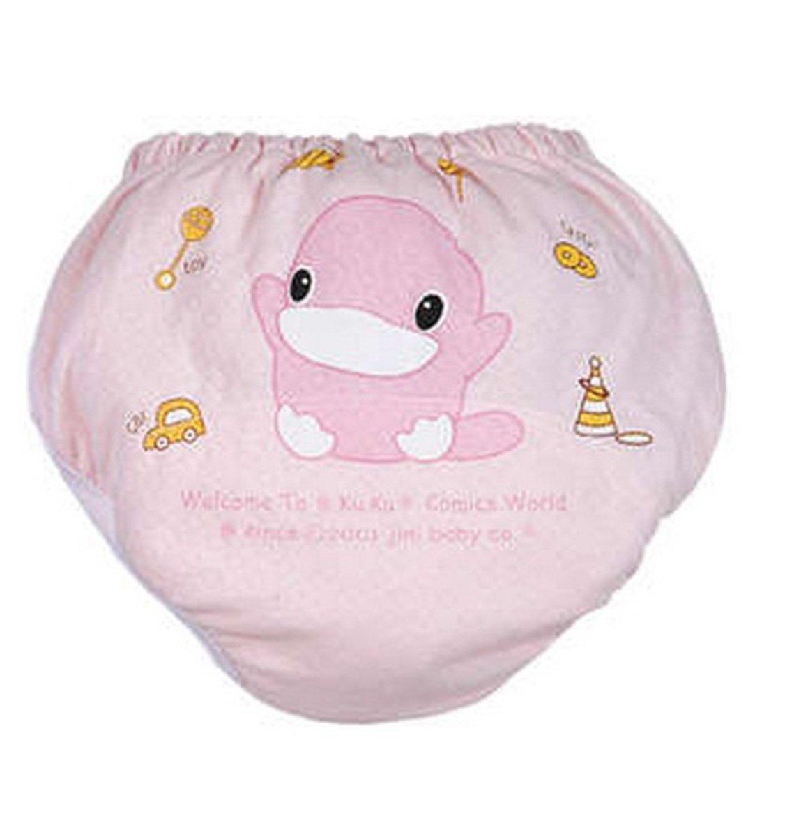 寶寶薄練習褲 (粉紅色) - 大碼