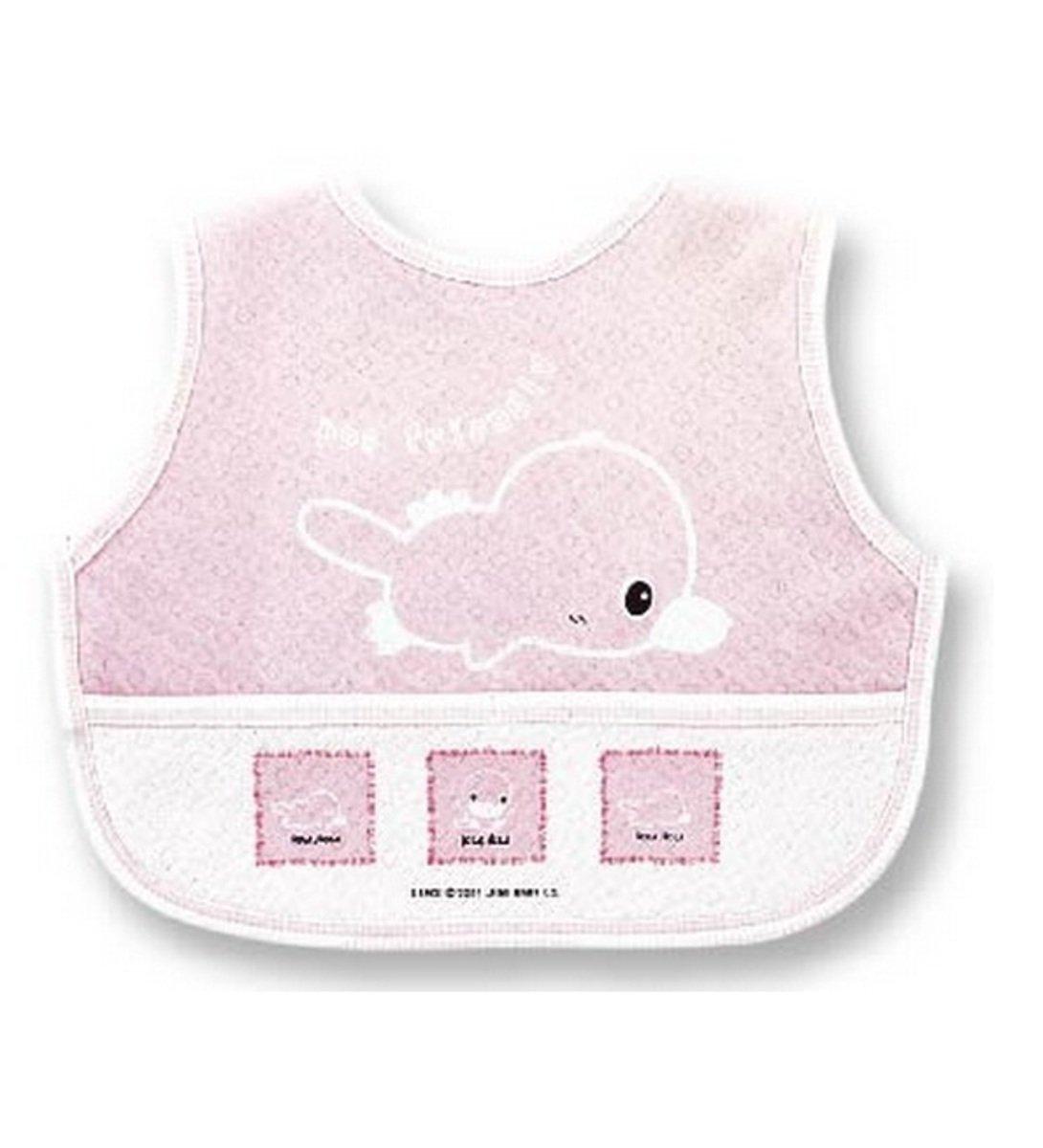 嬰兒粘扣大圍兜 (粉紅色)