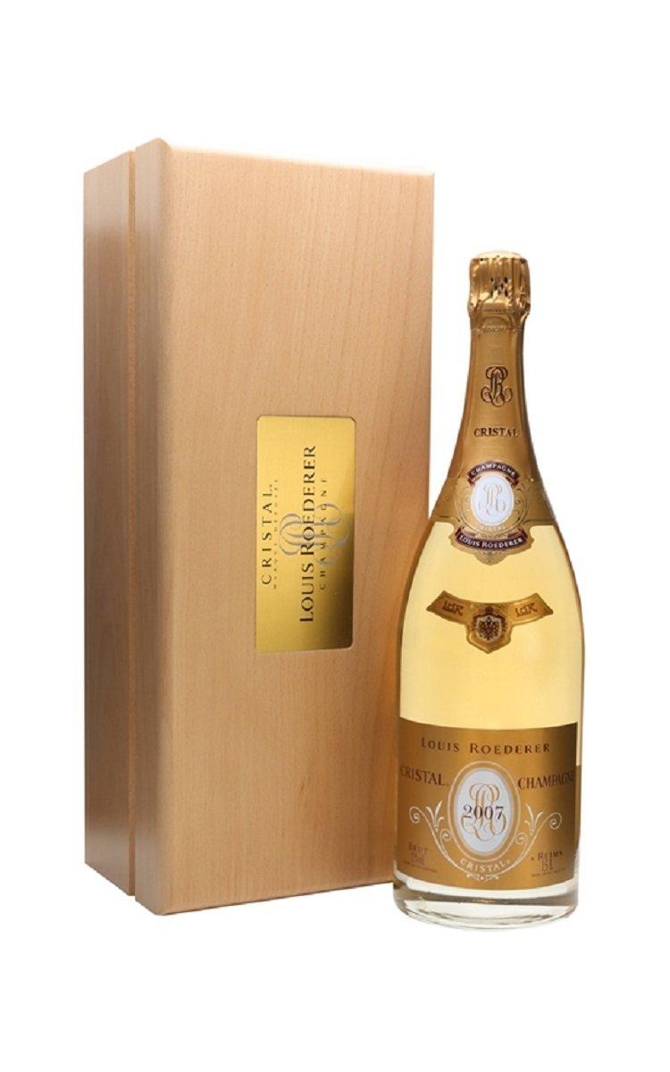 Champagne Louis Roederer Cristal Wooden Case (1.5 Litre Magnum)