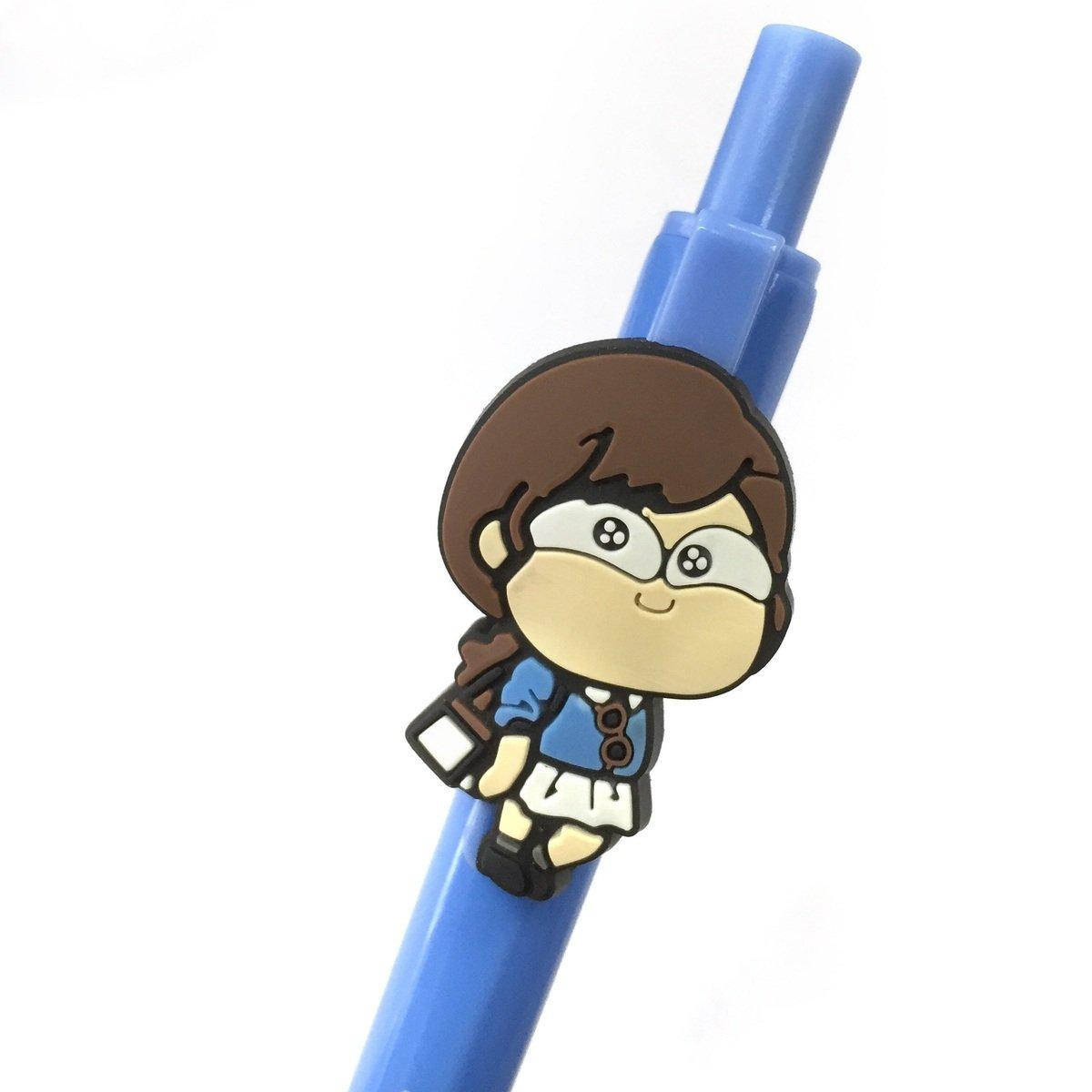 馬仔藍色原子筆 (白裙)