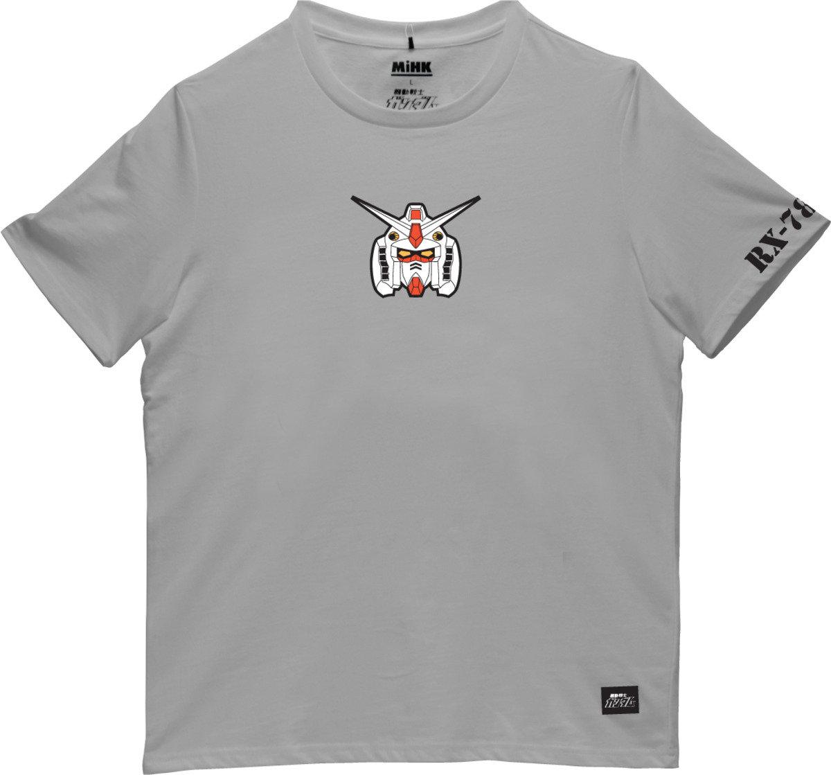 機動戰士(高達)灰色圓領短袖T恤-01