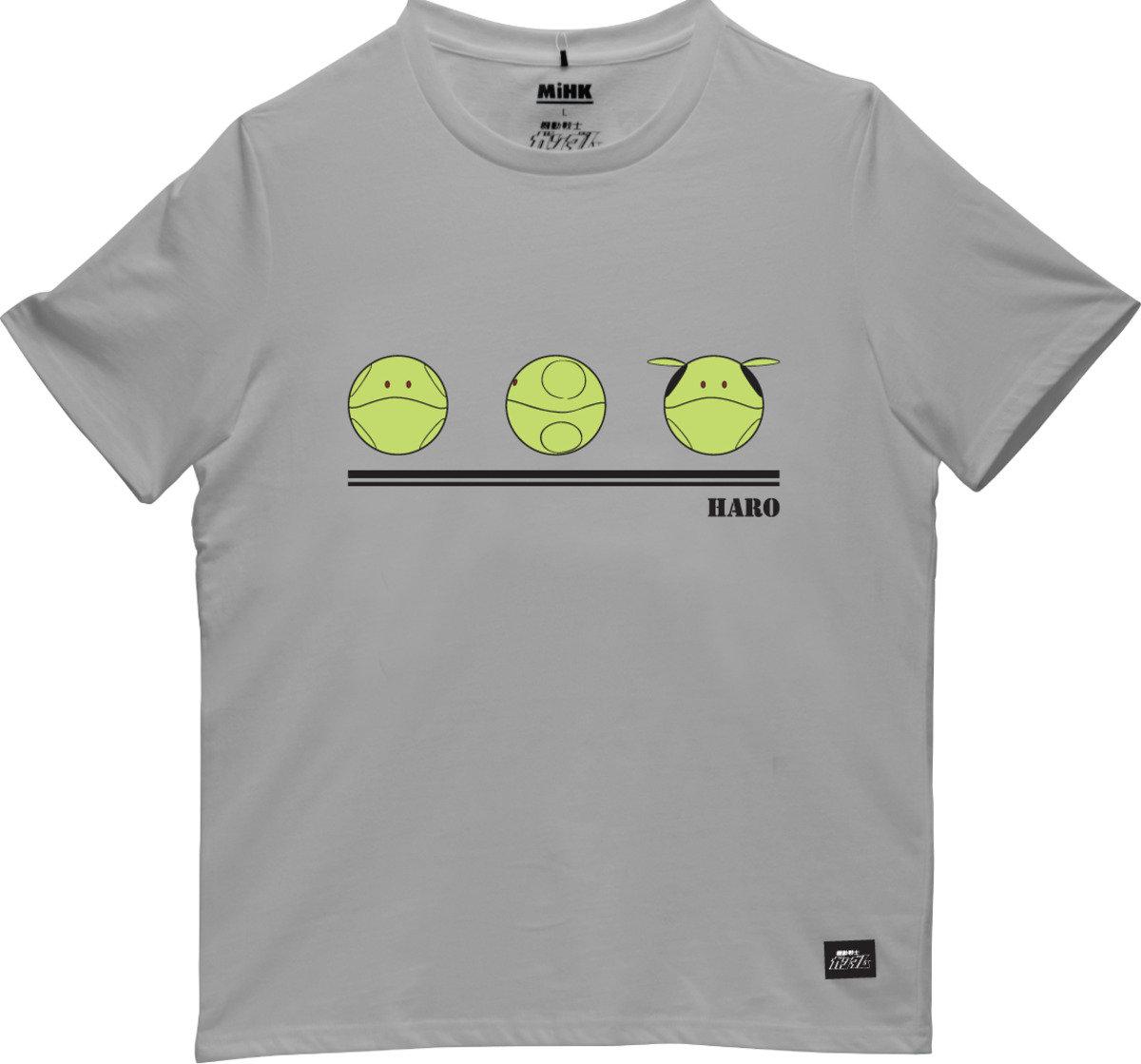 機動戰士(高達)灰色圓領短袖T恤-02