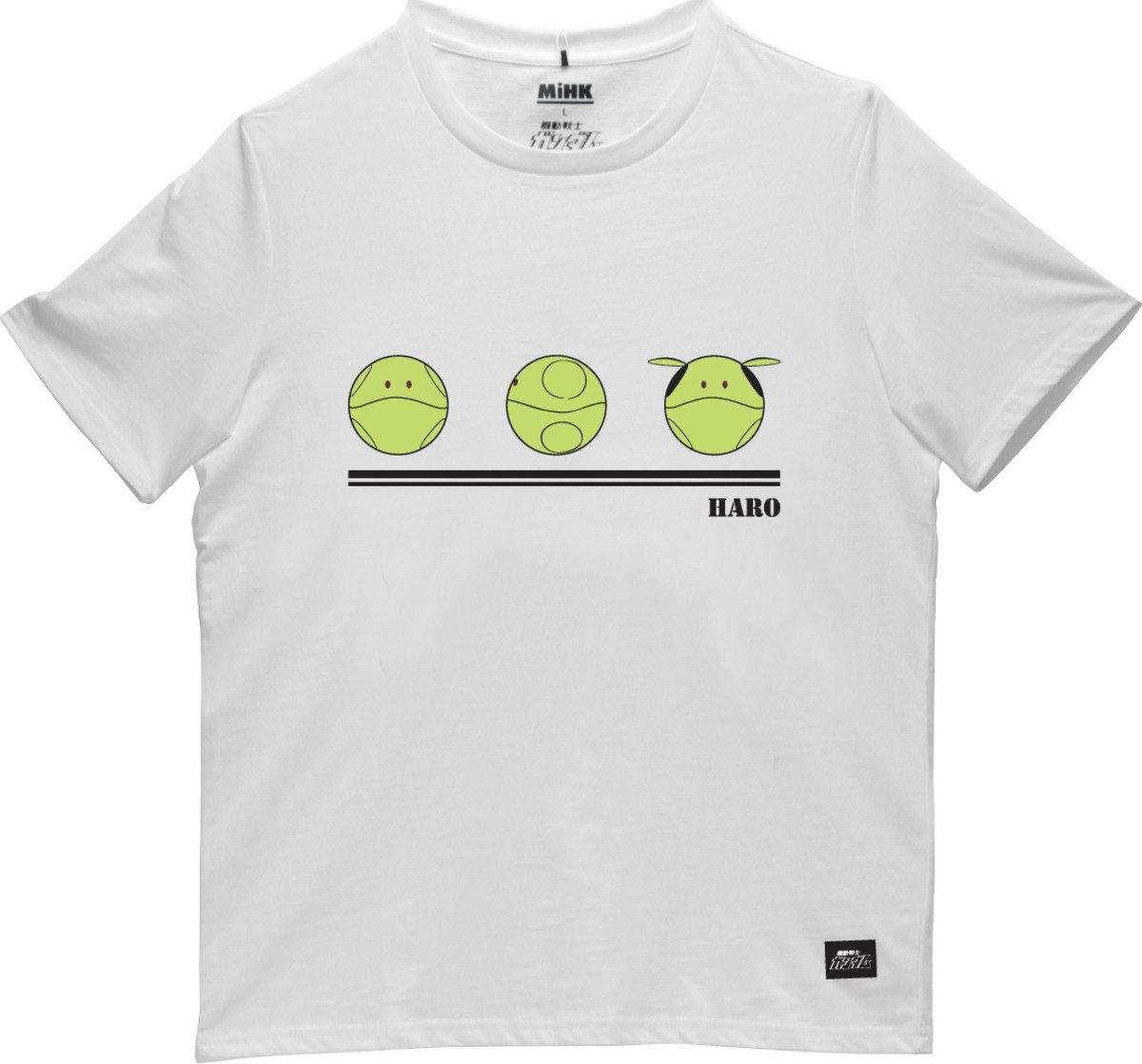 機動戰士(高達)白色圓領短袖T恤-02