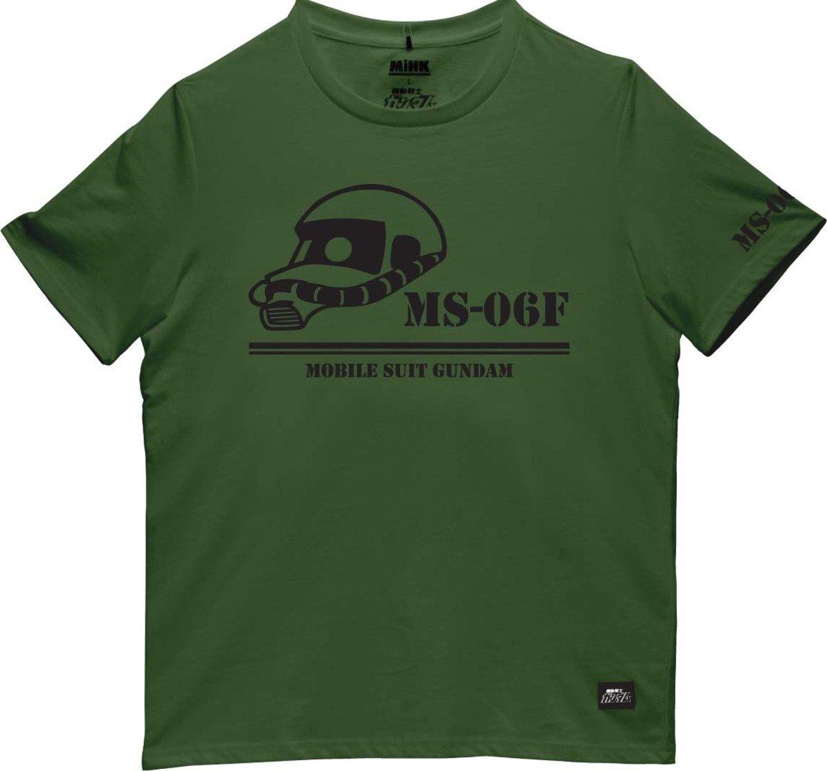 機動戰士(高達)綠色圓領短袖T恤-03