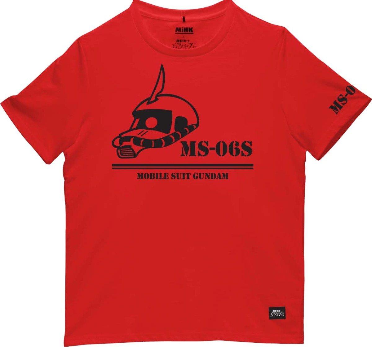 機動戰士(高達)紅色圓領短袖T恤-04