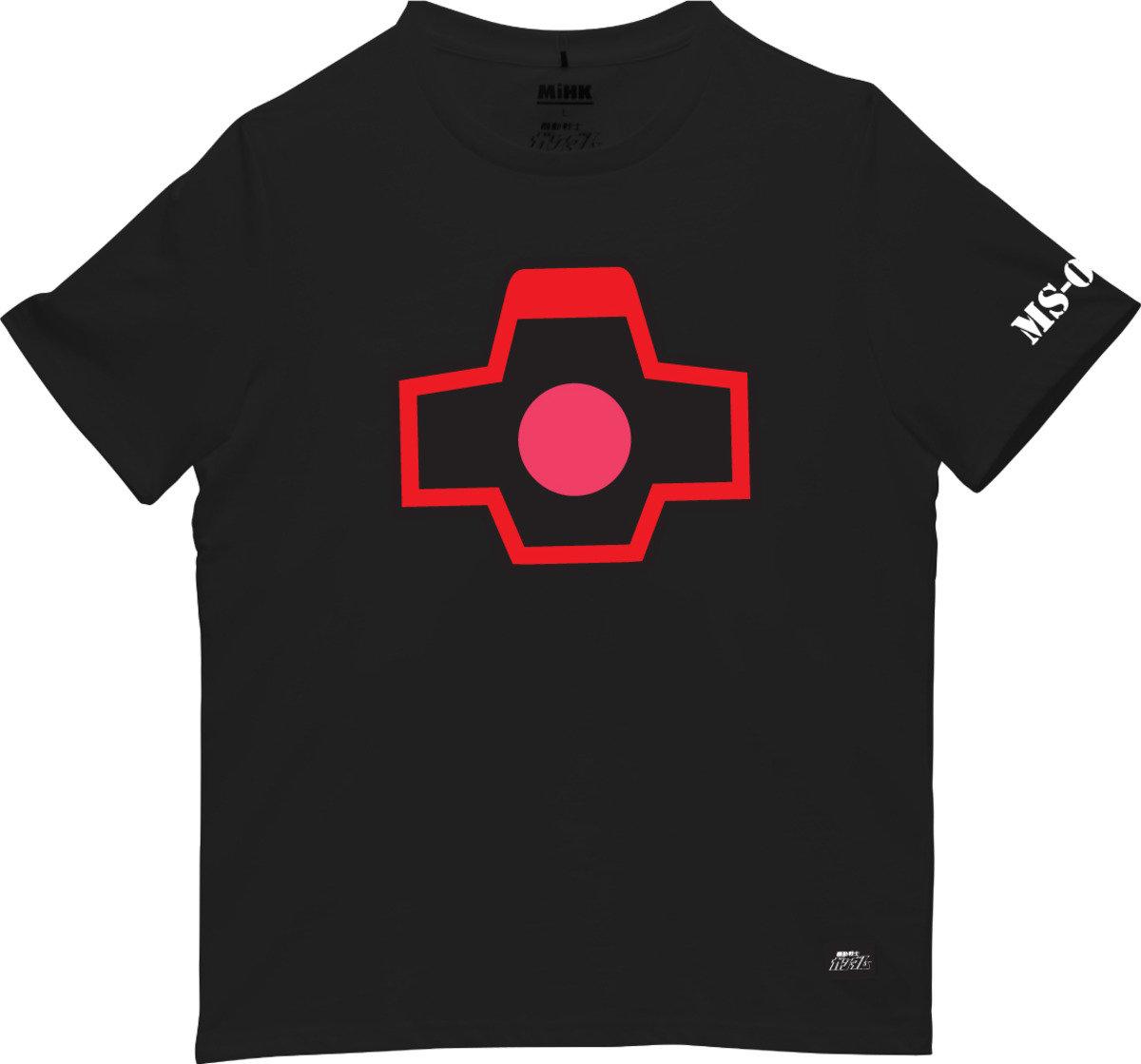 機動戰士(高達)黑色圓領短袖T恤-16