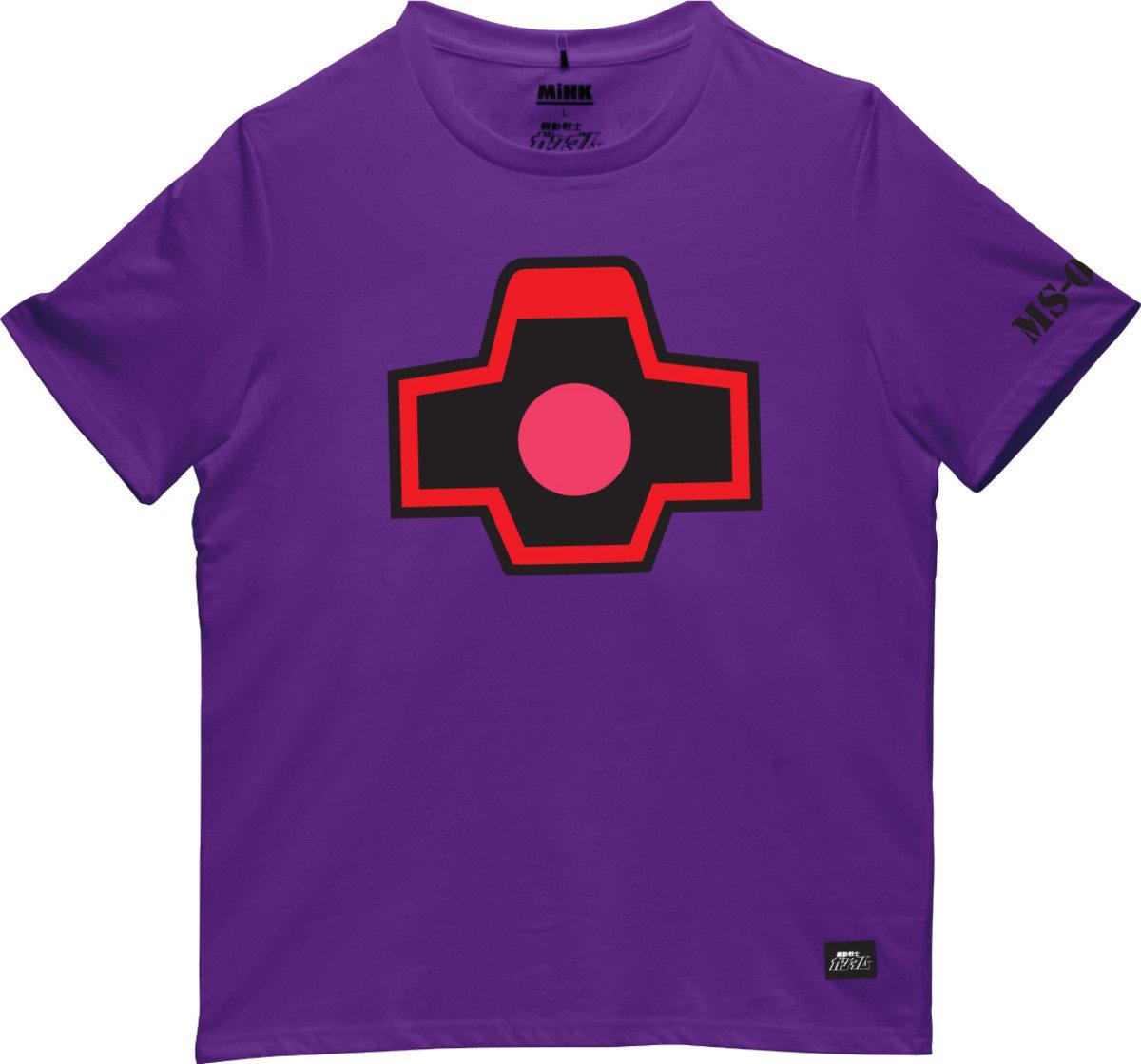 機動戰士(高達)紫色圓領短袖T恤-16