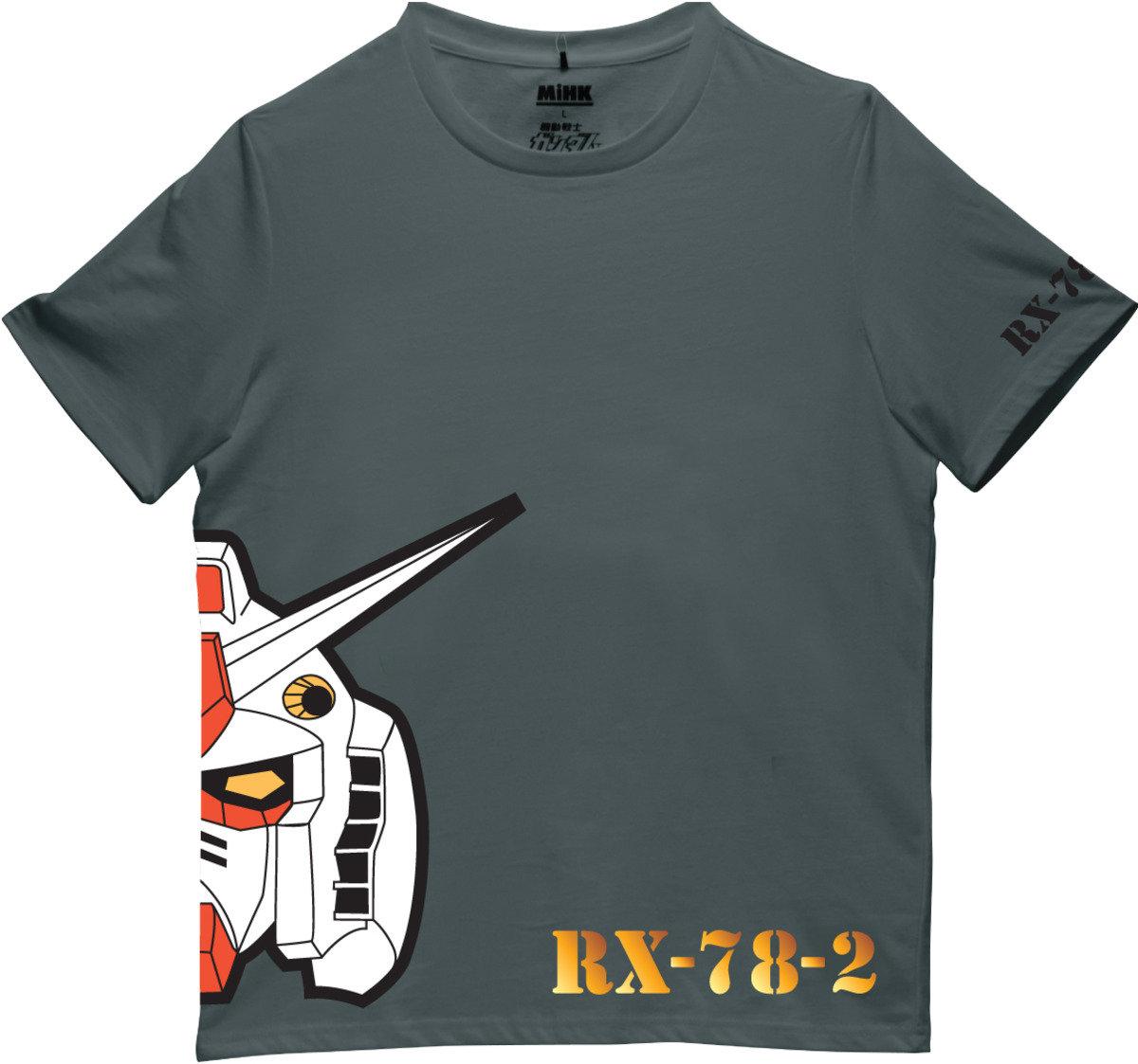 機動戰士(高達)灰色圓領短袖T恤-14