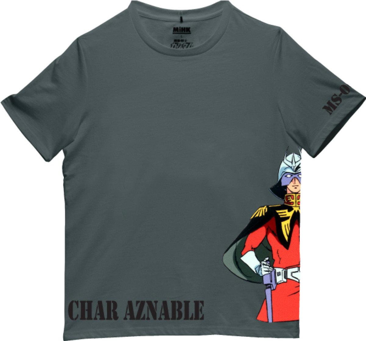 機動戰士(高達)深灰色圓領短袖T恤-13