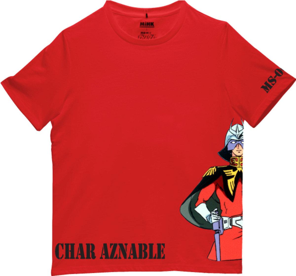 機動戰士(高達)紅色圓領短袖T恤-13