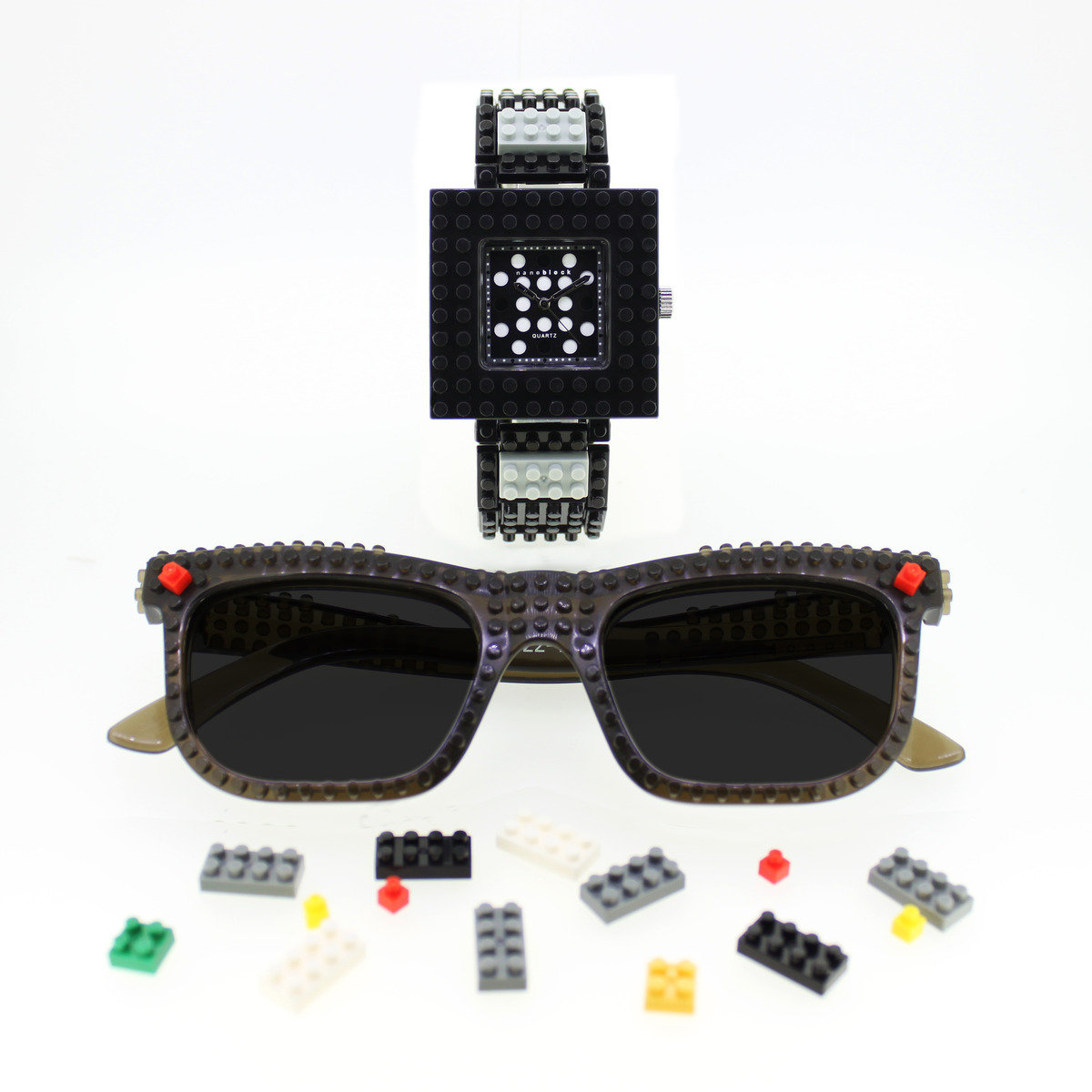 nanoblock 型格DIY手錶+眼鏡套裝