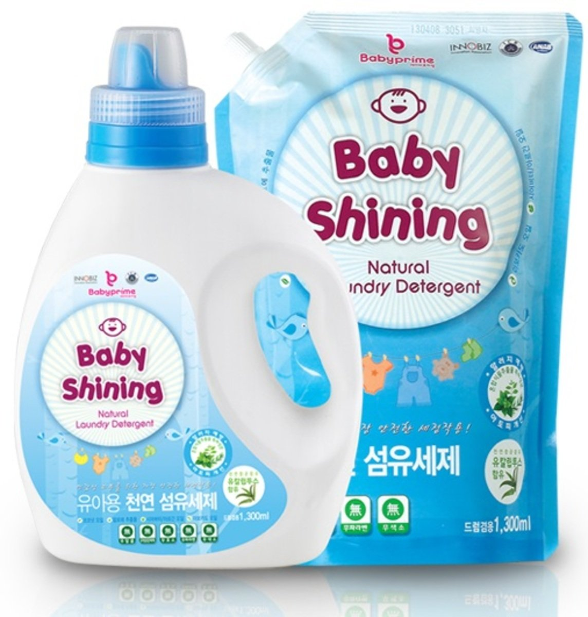 嬰兒天然洗衣液連補充裝