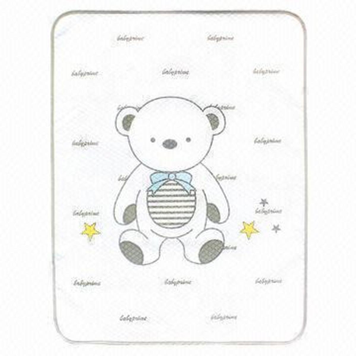 灰色小熊隔尿床墊