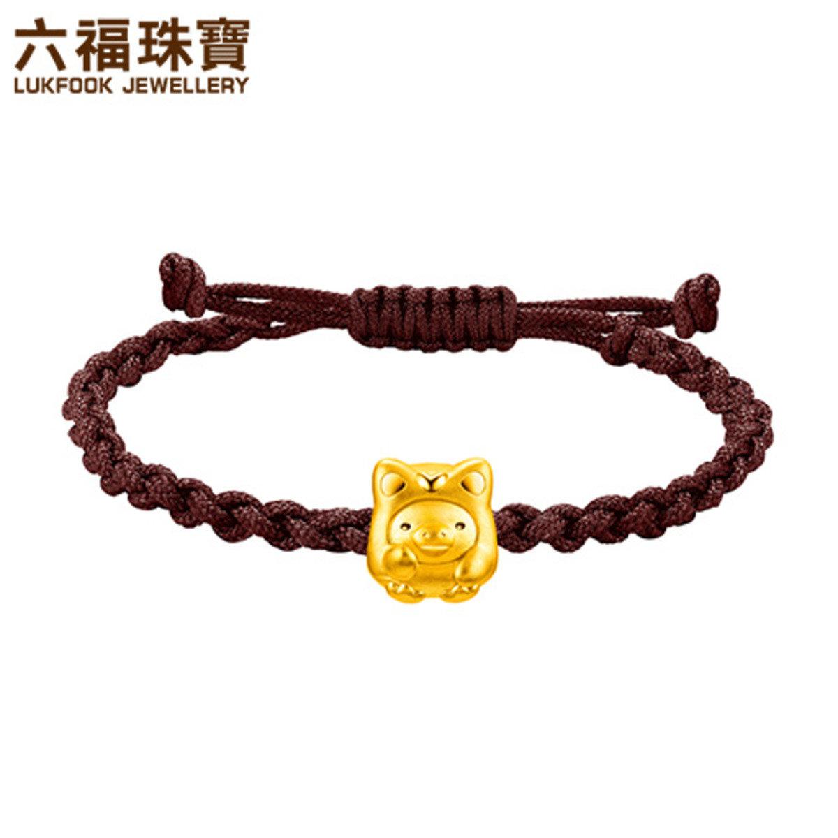 小雞招財造型黃金手繩