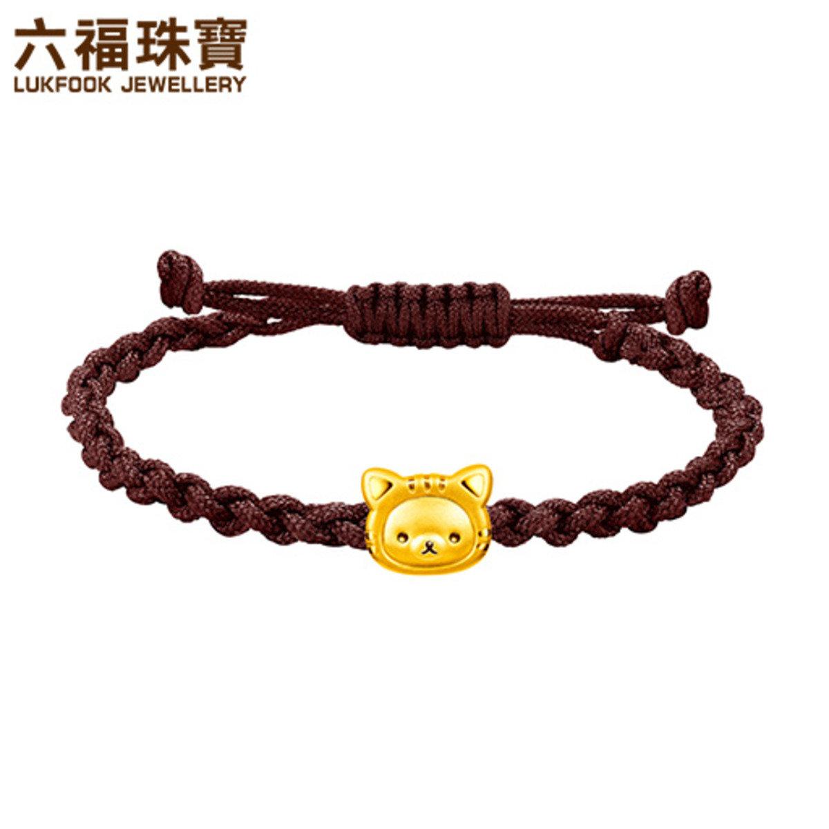 輕鬆小熊™ 招財造型黃金手繩
