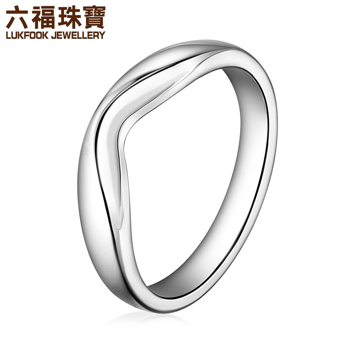 愛恆久 男裝 18K/750金(白色)戒指