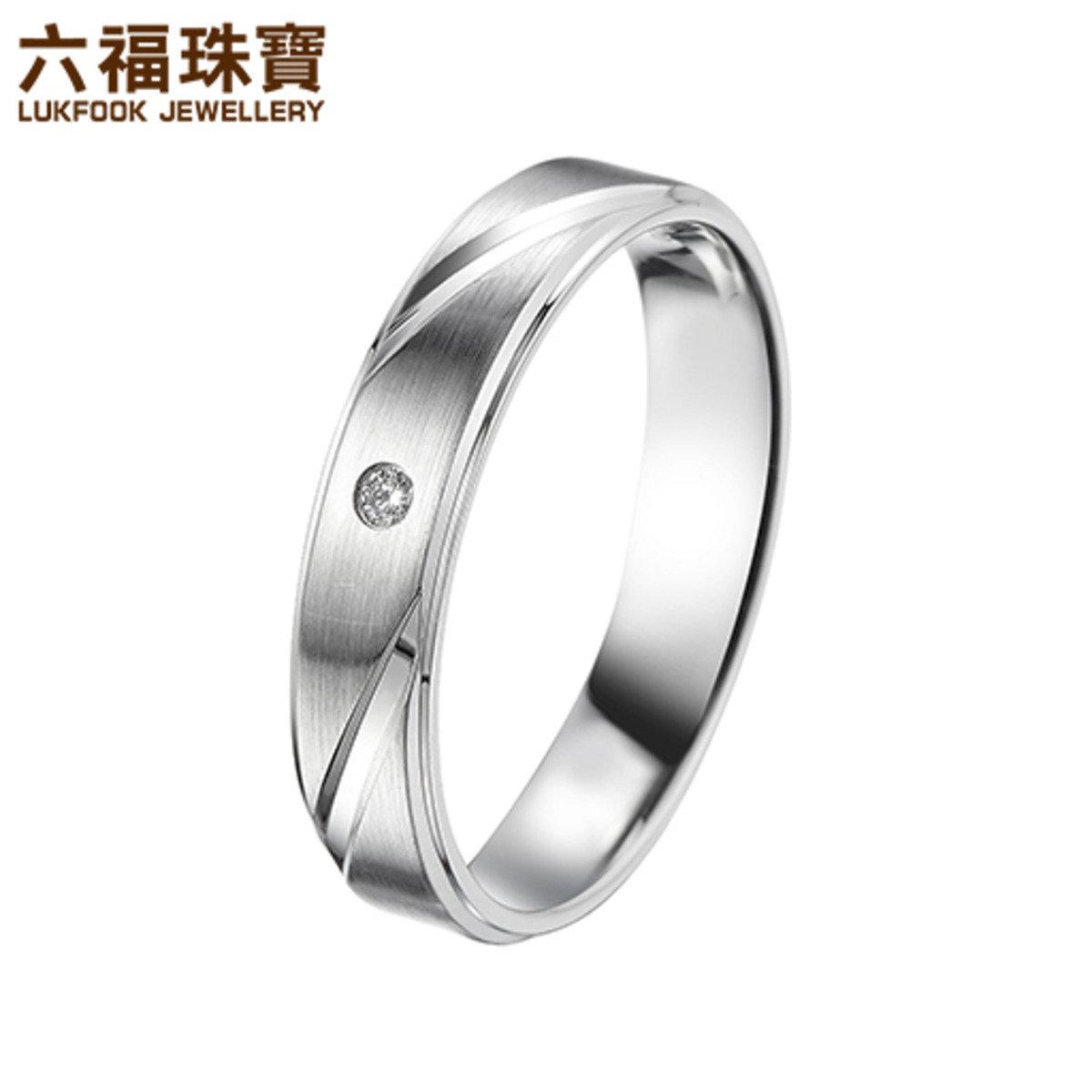 純結 男裝 Pt999鑲鑽石戒指
