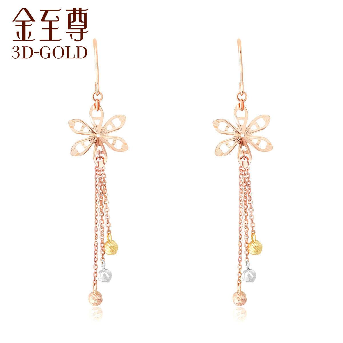 18K/750金(多色)耳環
