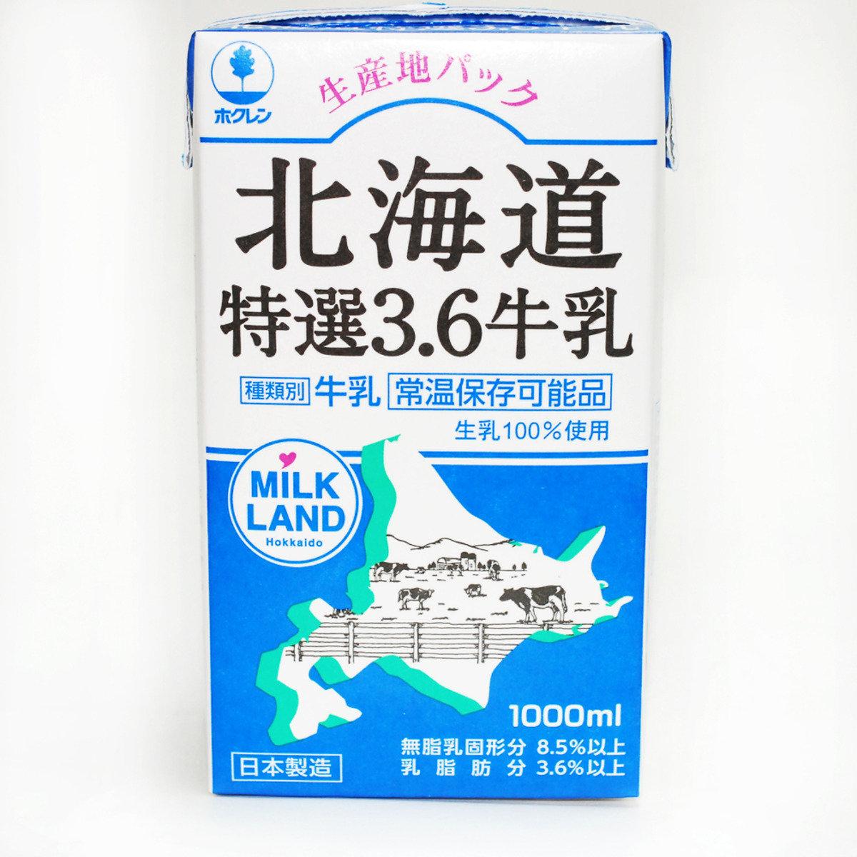 北海道特選3.6牛乳 1000毫升
