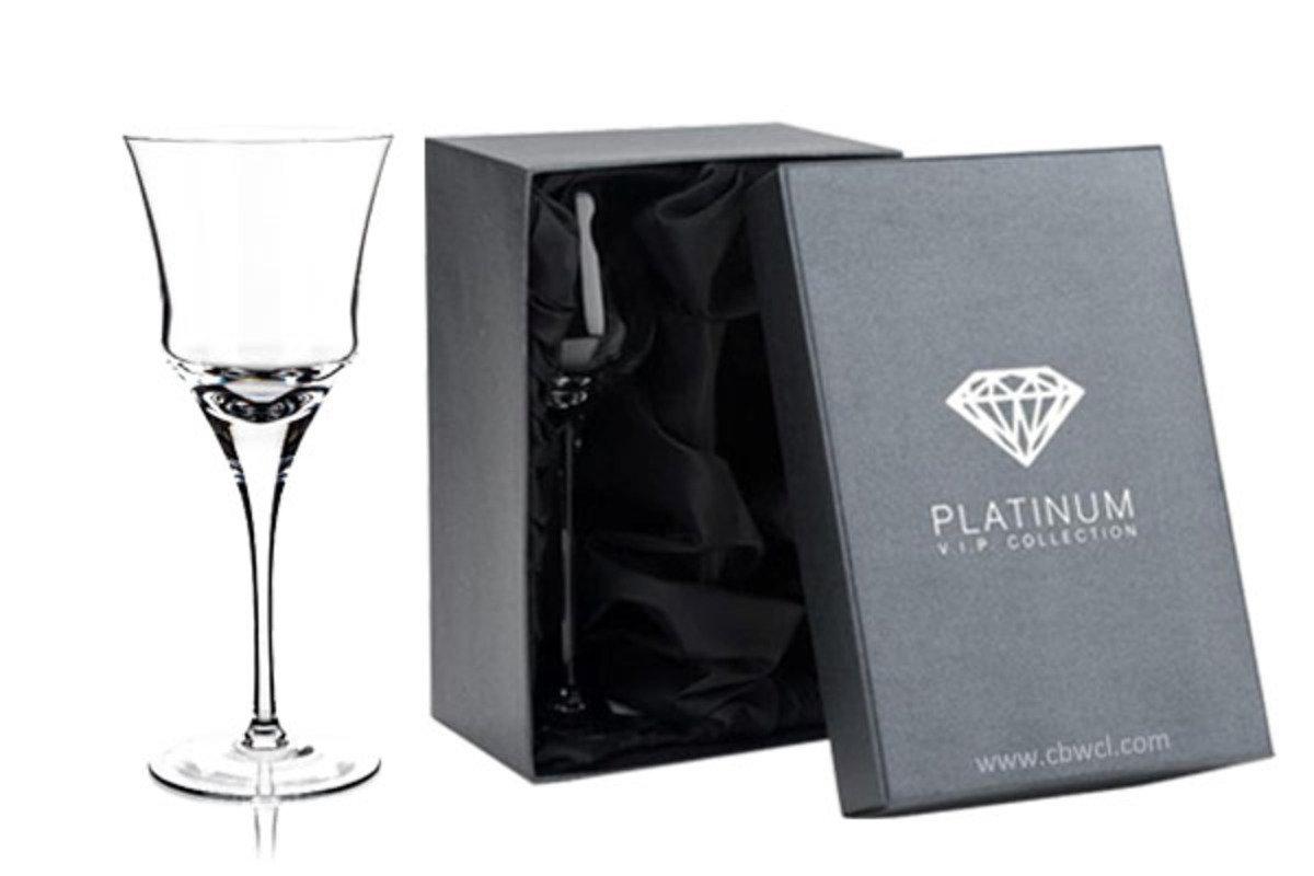 Enigma 純人工吹製無鉛水晶白酒杯 ~ 2隻禮盒裝