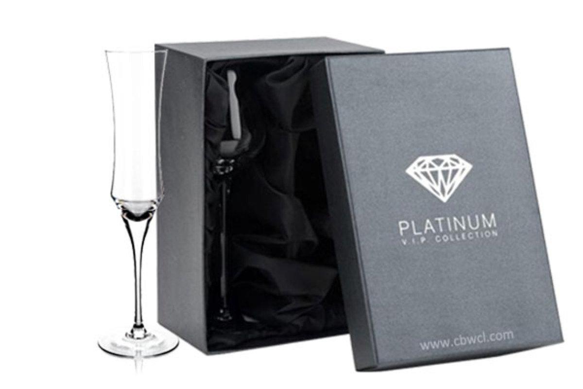 Enigma 純人工吹製無鉛水晶香檳酒杯 ~ 2隻禮盒裝