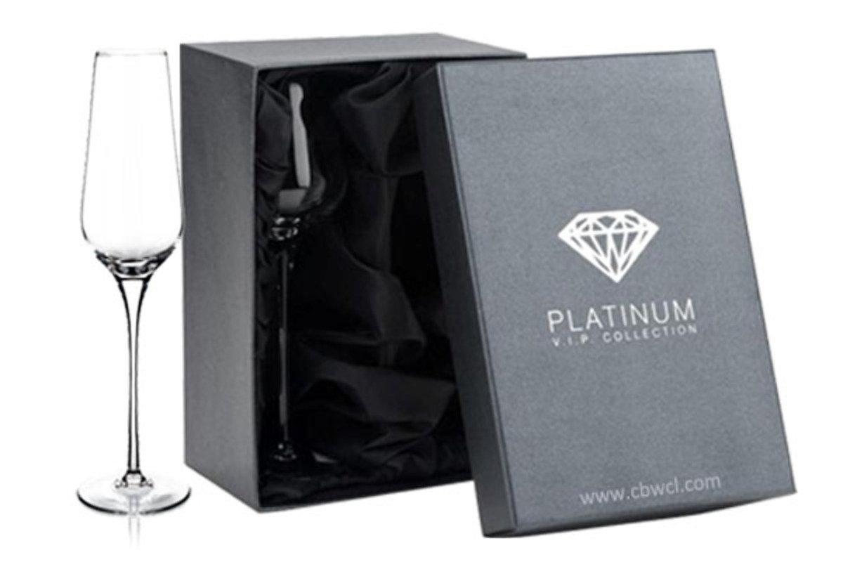Amy 純人工吹製無鉛水晶香檳酒杯 ~ 2隻禮盒裝