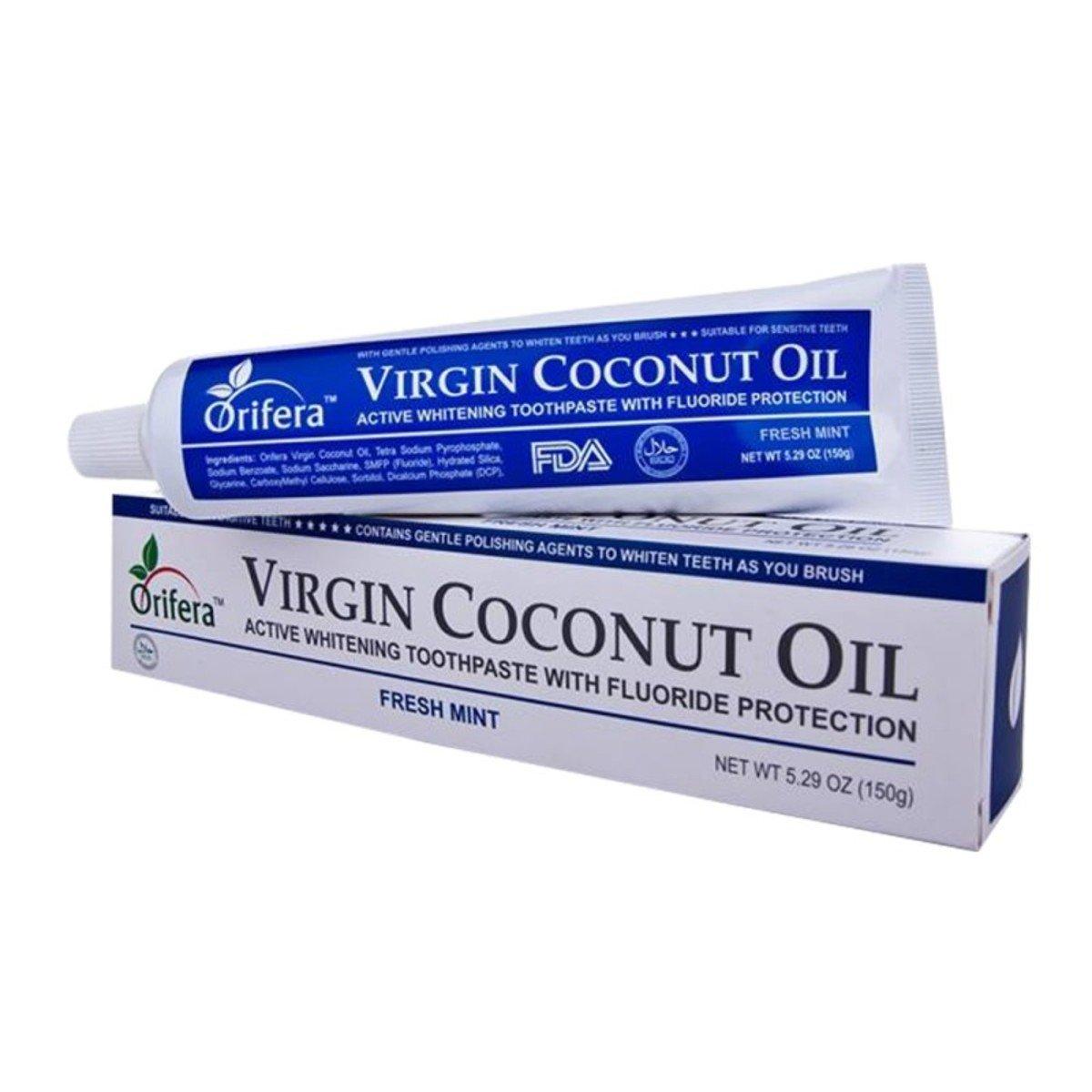 精純椰子油美白牙膏