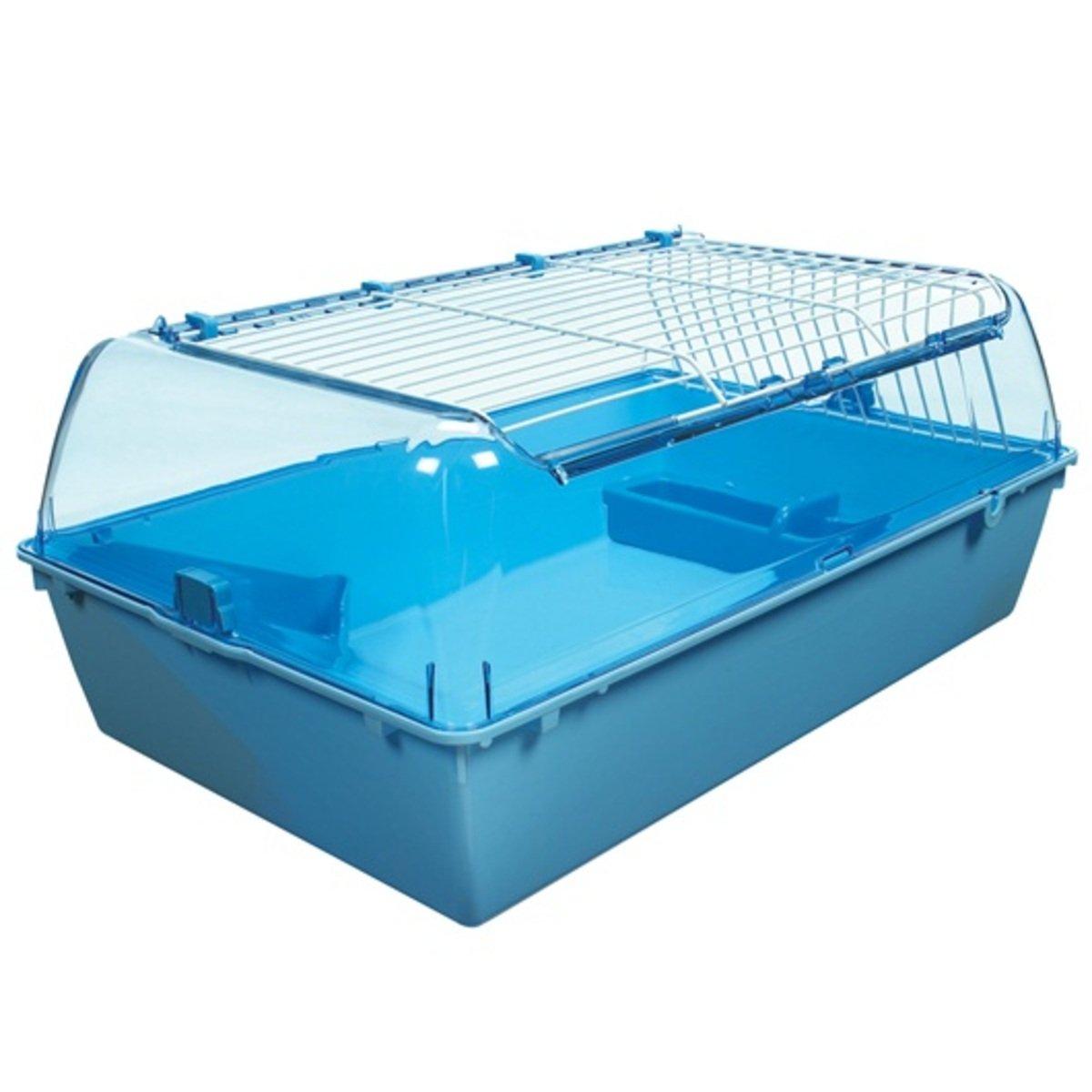 水藍色膠頂兔籠72x46x32.25cm