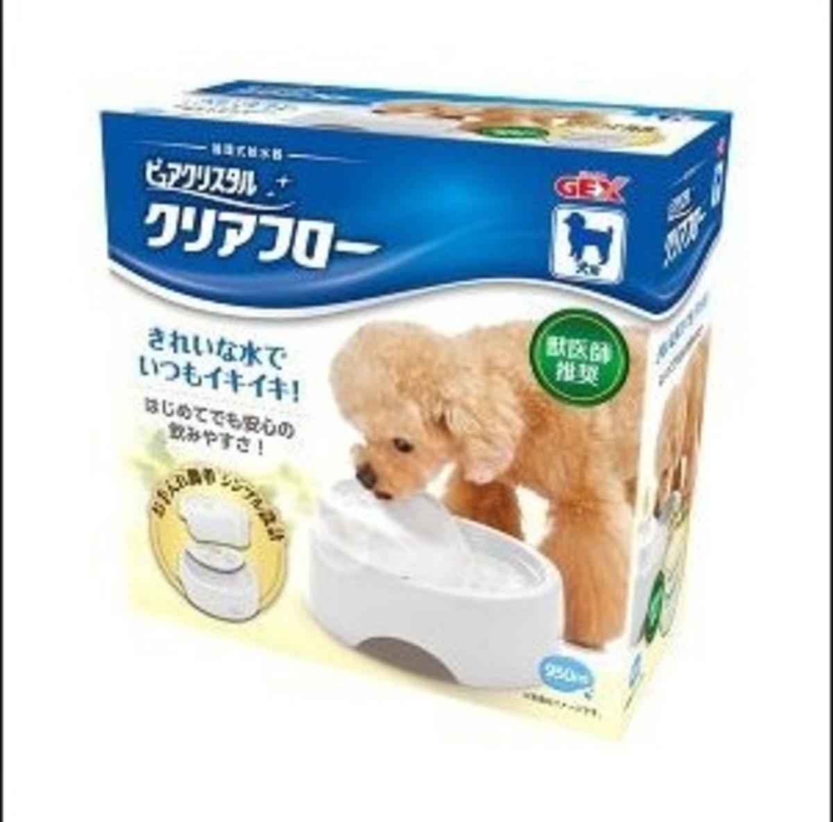 狗用循環式碗型飲水機-白色950ml