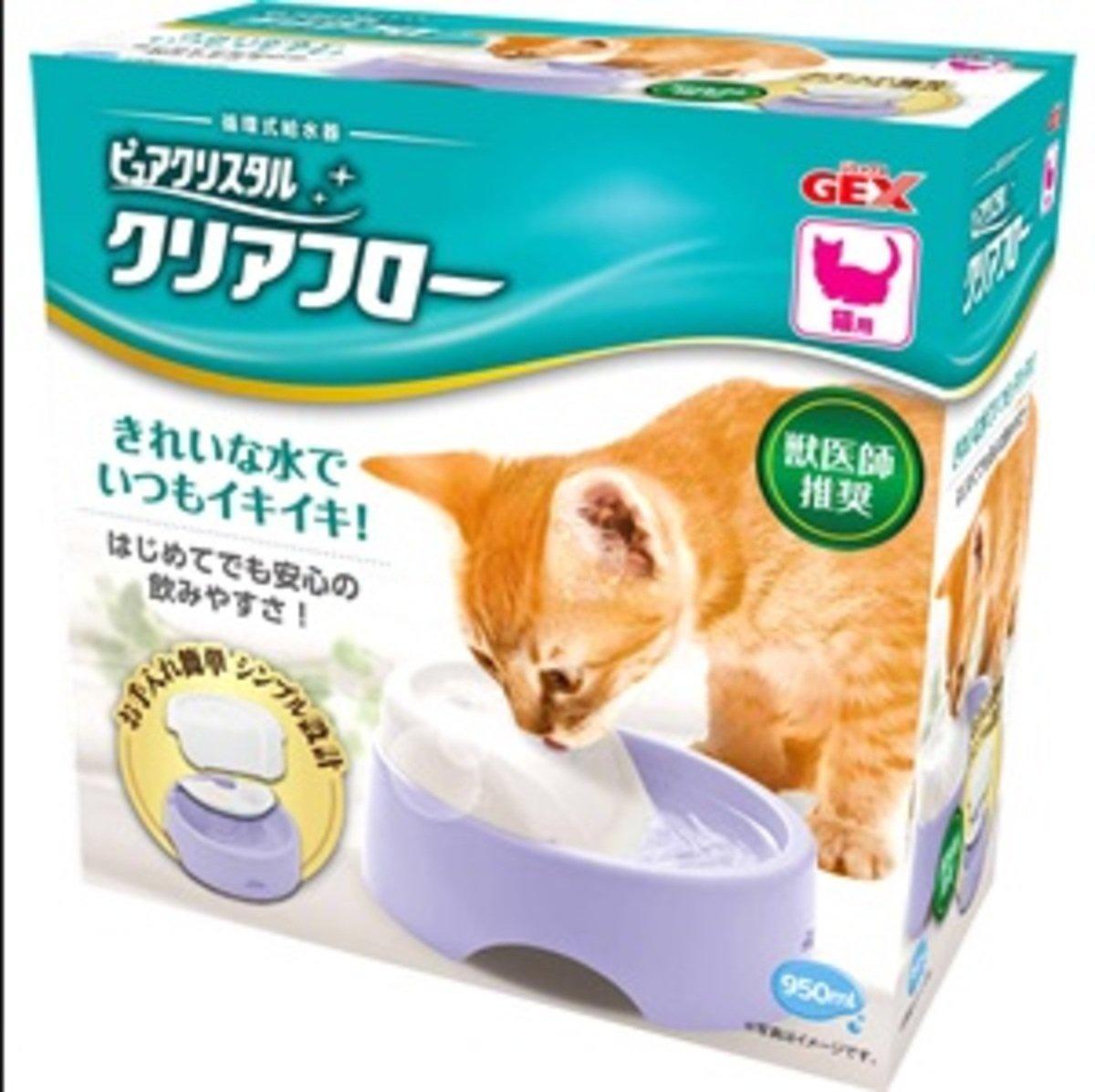 貓用循環式碗型飲水機-紫色950ml