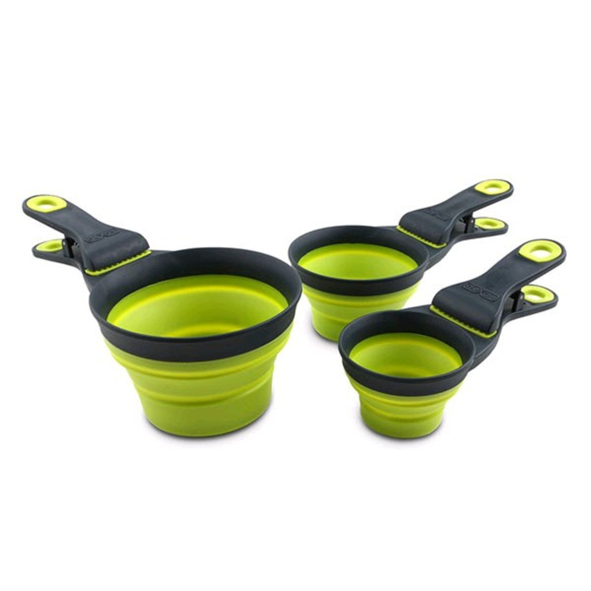 多功能寵物折疊糧杯-綠色