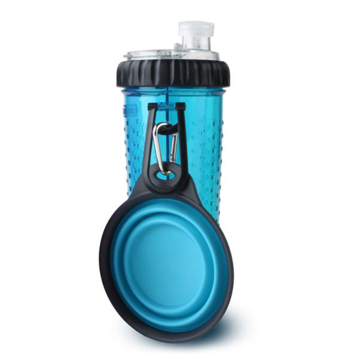 便攜式外出水糧兩用杯-藍色