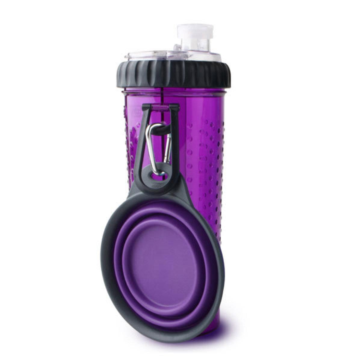 便攜式外出水糧兩用杯-紫色