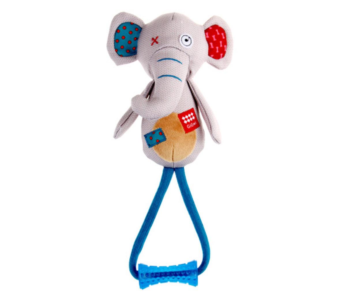 堅韌拉扯大象發聲狗玩具