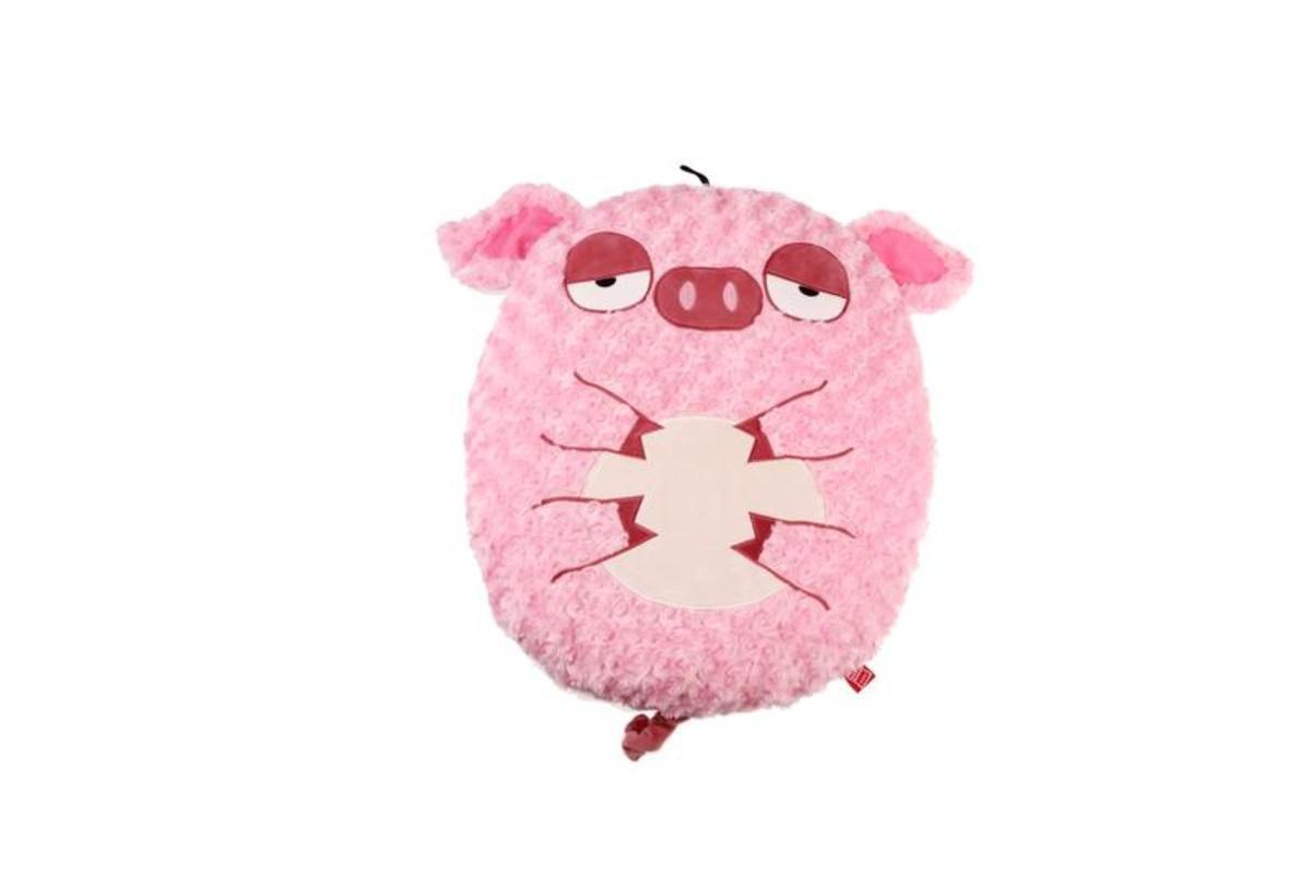 懶洋洋粉紅豬厚墊