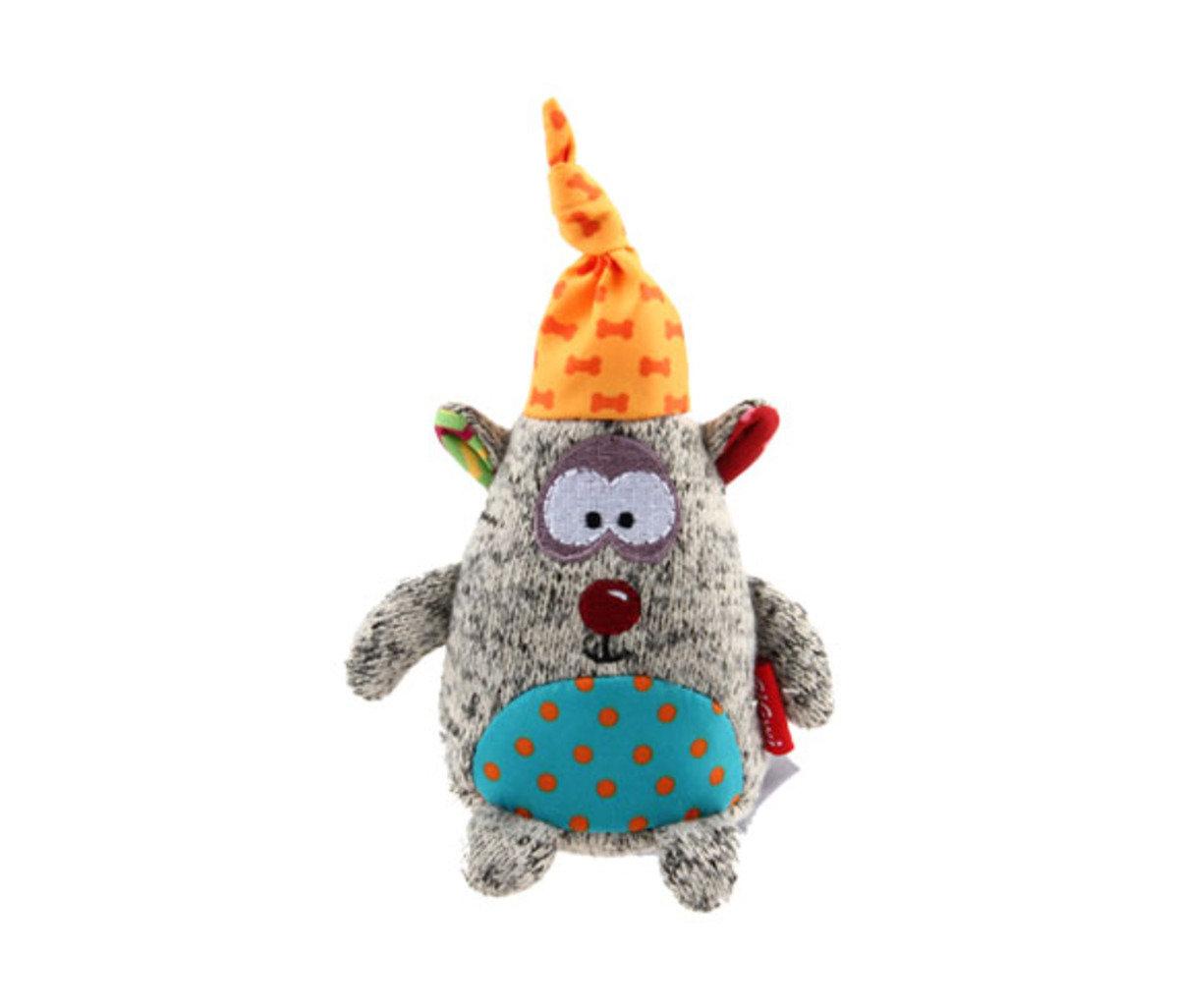 趣緻灰熊針織公仔狗玩具(發聲)