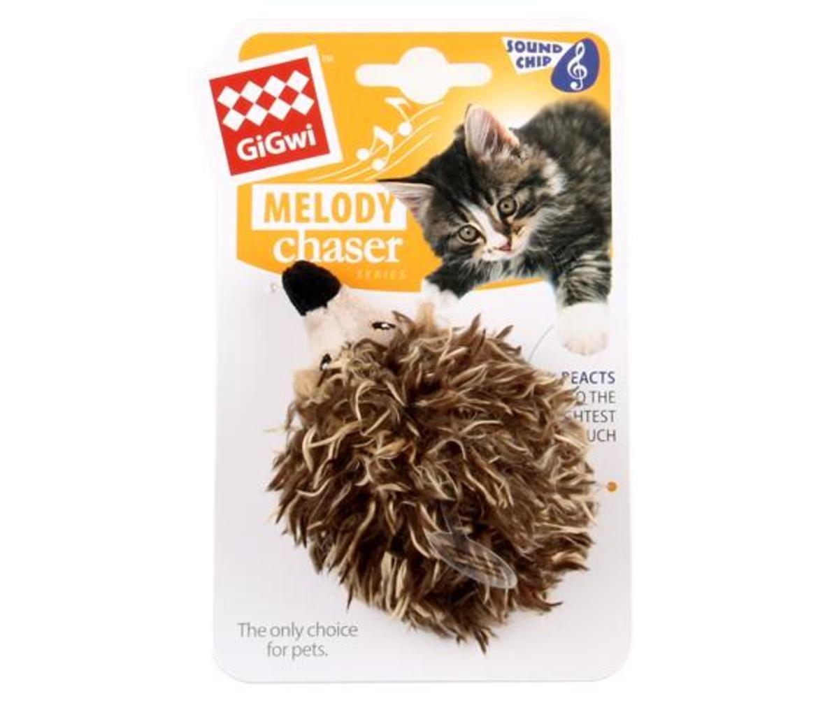刺蝟發聲貓玩具