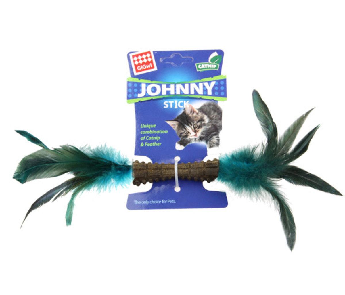 i鮮豔羽毛貓草玩具